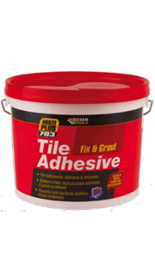 Everbuild 703 Fix and Grout Tile Adhesive 10 Litre