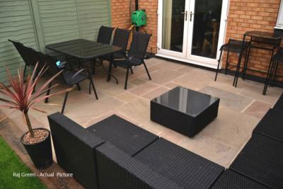 Traditional Indian Sandstone Paving - Raj Green