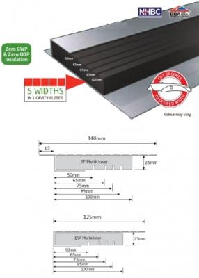 2.4mtr Cavity Closer 50-100mm SF Multicloser Dacatie