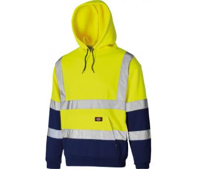 Dickies High Visibility Two Tone Hoodie - Yellow/Navy (SA22095)
