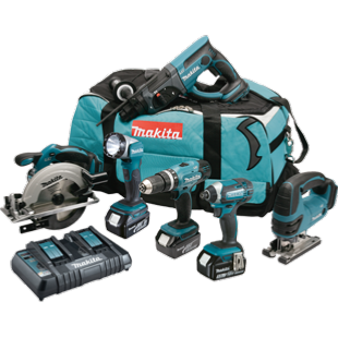Makita DLX6068PT 18V LXT 6 Piece Combo Kit