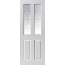 Canterbury White Glazed Door