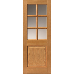 Arden Oak Veneered Glazed Door