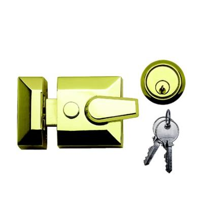 Dale Hardware Night Latch 90mm Standard Deadlocking - Polished Electro Brass