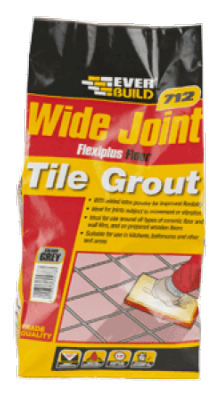 Everbuild 712 Wide Joint Flexiplus Floor Tile Grout 5kg - Grey
