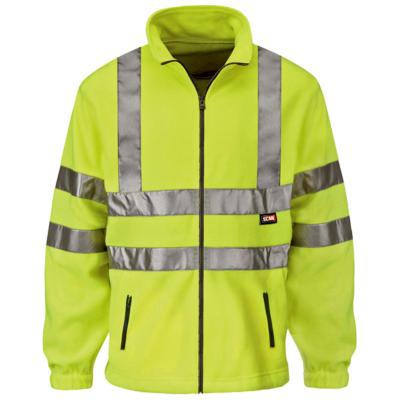 Hi-Vis Full Zip Fleece - Yellow