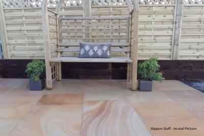 rippon buff indian sandstone paving