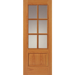 Royale 12-6VM Oak Veneered Glazed Unfinished Door