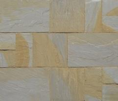 Natural Sandstone Paving Patio Kit 20.78m2 Pack - Willow Blend