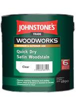 Johnstone's Trade Woodworks Quick Dry Satin Woodstain 750ml