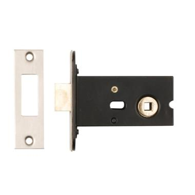Dale Hardware Mortice Deadbolt and 5mm Follower 76mm - Nickel Plated
