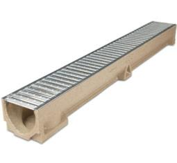 Aco Raindrain Channel Drain with Galvanised Steel Grating