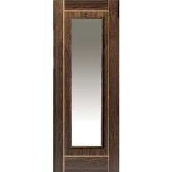 Valcor Walnut Glazed Door