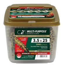 C2 Multi-Purpose Advanced Screws - Yellow (Tub of 1200)