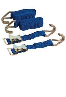 Silverline Easy Lock Cam Buckle Straps (2 pack)