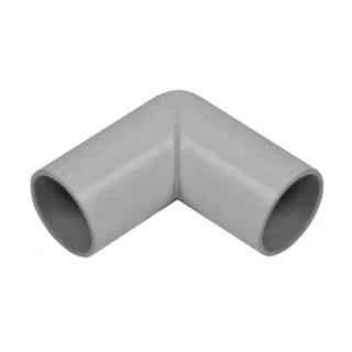 Polypipe 21.5mm Grey Overflow Pipe 90 deg Knuckle Bend VP45