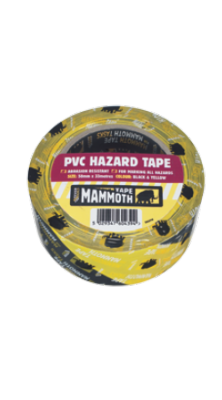 Everbuild PVC Hazard Tape 50mm x 33mtr