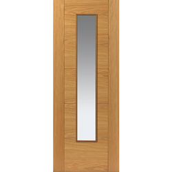 River Oak Modern Emral Glazed Door