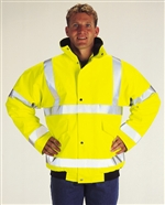 High-Vis Yellow Bomber Jacket