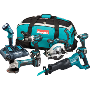 Makita DLX6072PT 18V 6 Piece Combo Kit LXT