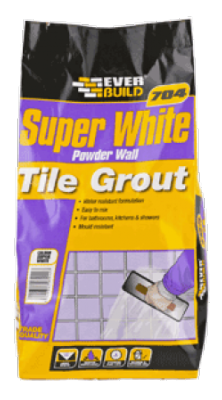 Everbuild 704 Super White Wall Tile Grout 3kg