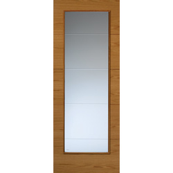 Royale VT5 Oak Glazed Door