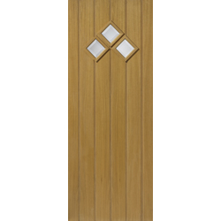 Therm - L Bordeaux Oak External Door