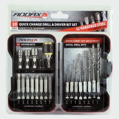 Addax Quick Change Drill & Driver Bit 20 Piece Set (MIX20SET)