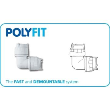 Polyfit 22mm Push Fit 90 deg Elbow FIT122