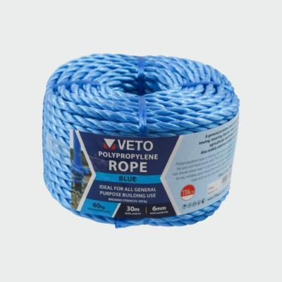 Veto Blue Poly Rope 30mtr Coil