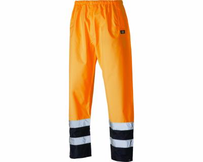 Dickies High Visibility Two Tone Trousers - Orange/Navy