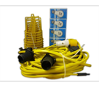 Festoon Kit with 10 x ES Bulbs and Guards 110v - 22mtr