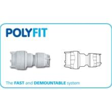 Polyfit 22mm to 15mm Push Fit Reducing Coupler FIT5822