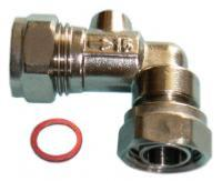 "Service Valve - Angled 15mm x 1/2"" Chrome Plated"