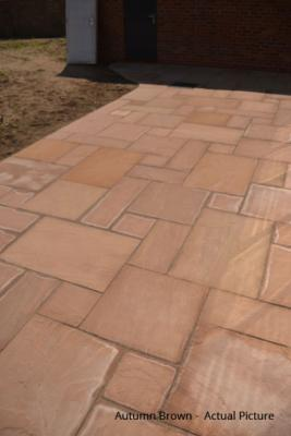 Traditional Indian Sandstone Paving - Autumn Brown