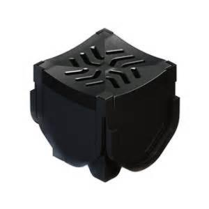 Flexseal Storm Drain Plus Quad Connector in black plastic