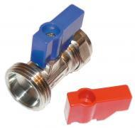 Washing Machine Valve - Straight Chrome Plated