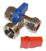 Washing Machine Valve - Tee Pattern Chrome Plated