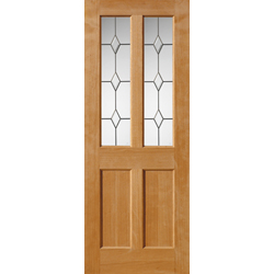 Churnet Oak Glazed Door