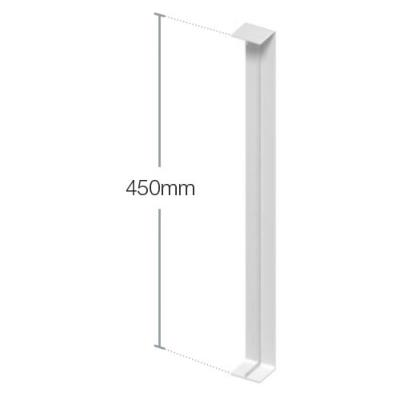 White Flat Joint Trim 450mm