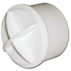Polypipe White Solvent Weld Waste Pipe ABS Screwed Access Plug