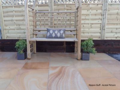Traditional Indian Sandstone Paving - Rippon Buff