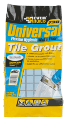 Everbuild 730 Universal Flexible Hygienic Wall/Floor Grout 5kg