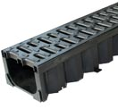 ACO Hexdrain Channel c/w Black plastic grate 1000mm