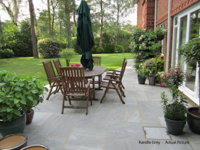 Traditional Indian Sandstone Paving - Kandla Grey