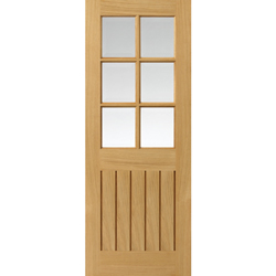 Tutbury Oak Glazed Prefinished Door