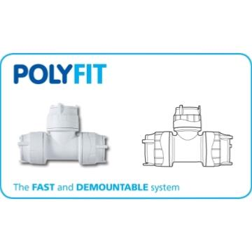 Polyfit 22mm Push Fit Equal Tee FIT222