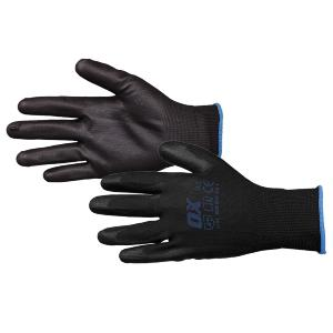 Ox PU Flex Gloves - Black Size 11
