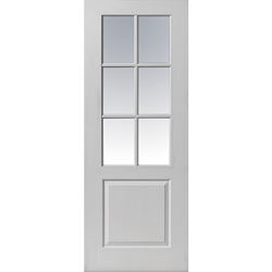 Faro White Glazed Door