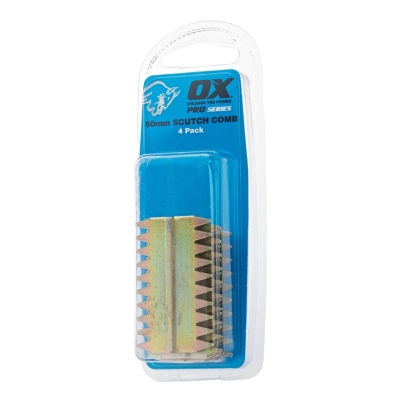 Ox Pro Scutch Combs 4 pack - 25mm